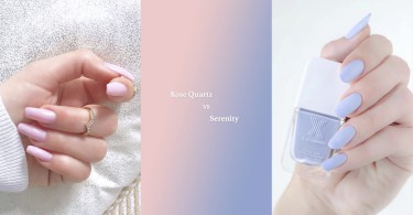 Pantone 美甲大對決!溫柔粉紅 VS 清爽粉藍~ 你最喜歡哪一款?