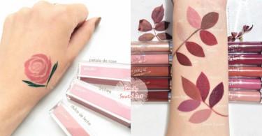 這才是超專業的美妝試色!超精緻的美圖讓每種色系的唇膏都想來一支啊~