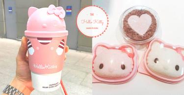 機場也令少女心爆發!~韓國Hello Kitty傳統年糕&粉紅熱飲造型杯~