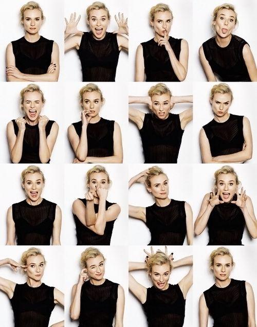 可爱五连拍手势图片