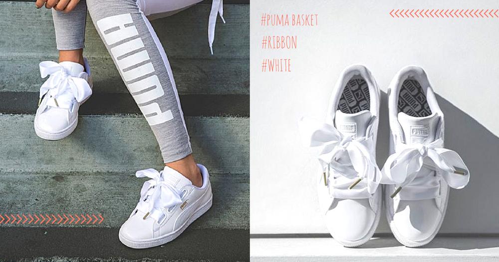 為球鞋繫上純白的少女心!全白球鞋x蝴蝶結Puma Basket太犯規了
