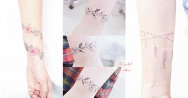 手鏈手鐲通通都不用了!21款清新簡約「手環刺青」圖案,絕對是最獨特的永恆飾物啊!