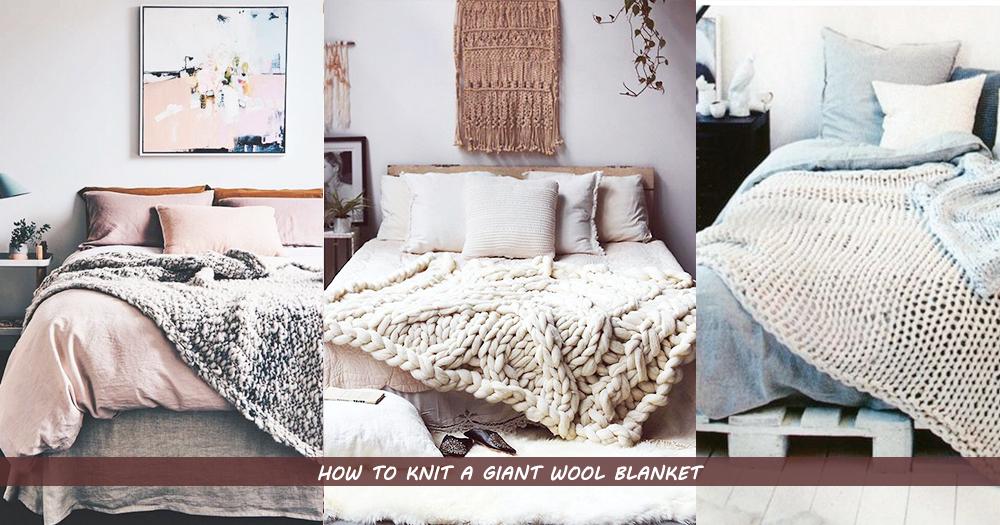 來點新意吧!冬天嘗試編織「超粗針織棉被」,就讓房間佈滿舒適的冬日調子咯!