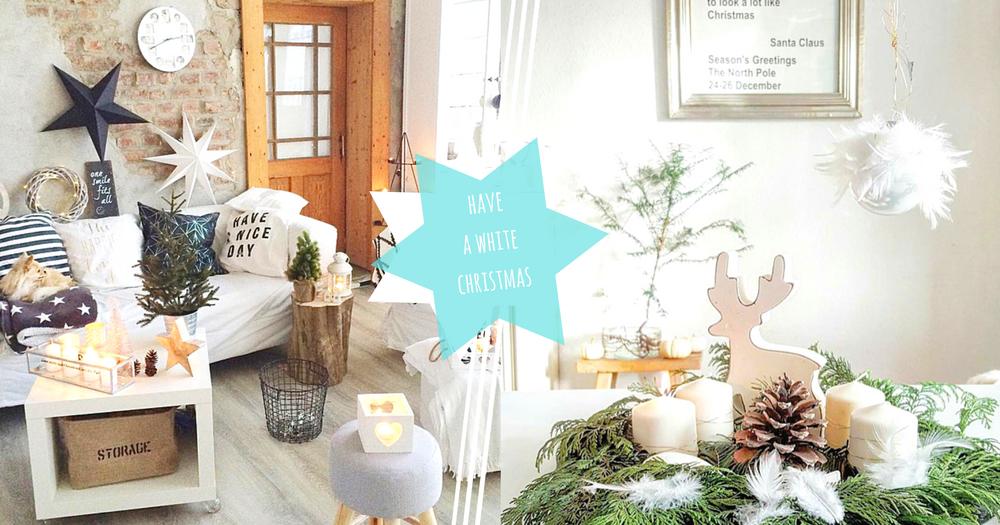 簡約控想要的就是白色聖誕!以白色為主的北歐式聖誕居家佈置~聖誕才不一定要華麗璀璨啊!