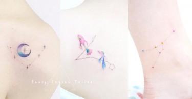 星星的秘密!小清新12星座刺青,我的個性都展現在這個小小刺青上啦〜