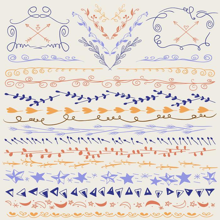 跟著画就有完美的手帐啦~12个可爱手帐分割线小点子,有美美的分割线