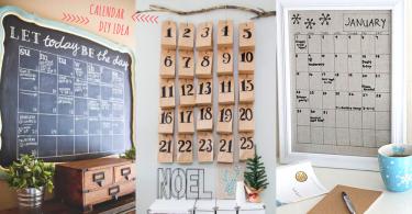 親手製作可愛的2017年曆!10款年曆DIY點子~把每個月的約會都寫在牆壁上,工作時也充滿期待啦!