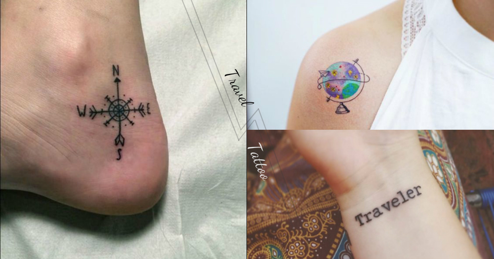 有了這個可以治癒想旅行的心!22款簡約清新旅遊刺青,要告訴大家我想出走的心啊~