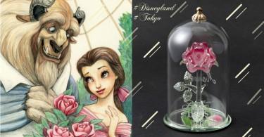 迪士尼不但最懂少女心,還要限定地區!東京迪士尼推出美女與野獸玻璃玫瑰花擺設,情人節收到這個我願意立馬嫁了~