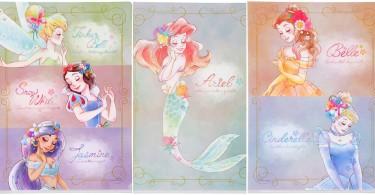 又在燃燒少女心啊~20款迪士尼公主+愛麗絲A4尺寸文件夾,姐要全都包下來咯!