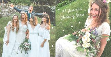 穿上家傳147年的婚紗幸福出嫁!英國新娘透過强大的互聯網力量~尋回失散的祖母嫁衣!