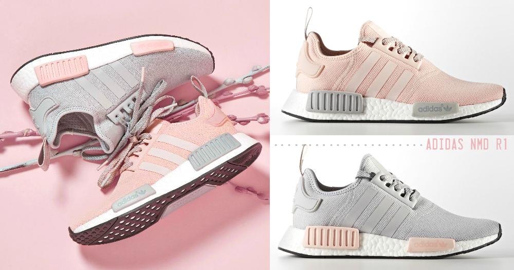 小清新女生的專屬球鞋!adidas NMD R1推出「灰X粉」清新配色,不果斷入手對不起自己啊!