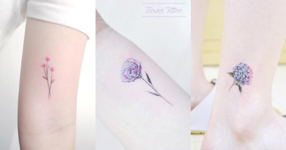 我也要在身上開出唯美小花~23款唯美小清新花朵刺青,每個女孩就是跟花一樣美~