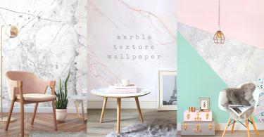 小資女也能打造出質感房間!8款打造超優雅牆身的「雲石紋壁紙」~我的房間新一年又有新風格!