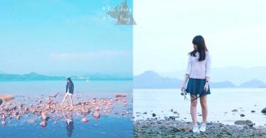 天空之鏡就在你身邊!香港絕美天空之鏡泥涌石灘,不來打卡拍照對不起自己啊~