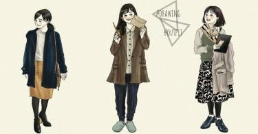 用模特兒介紹商品已經Out了!日本網店可愛風手繪穿搭,看完就可以直接下單啊~