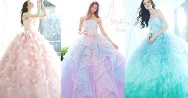 為了穿起它都想快點嫁出去!20款小清新X夢幻婚紗,5個色系都讓人超心動!