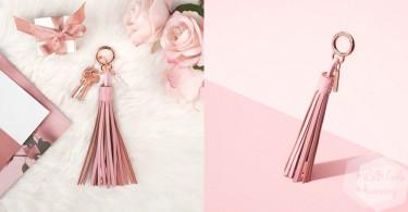 以後都不用在袋中找充電線~高質感流蘇充電線掛飾,玫瑰粉紅色追擊少女心!