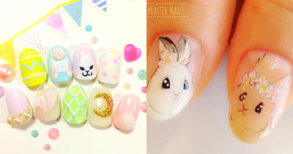 兔子控絕對不能錯過!15款粉嫩色系「復活節美甲」,可愛模樣絕對令你心動~