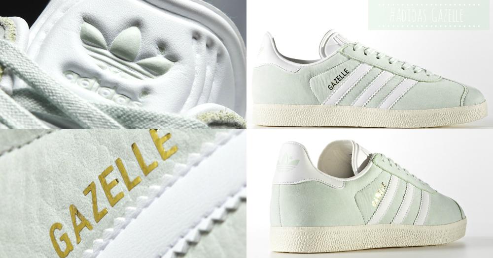 慵懶女生的百搭球鞋~全新春色淡薄荷綠「Adidas Gazelle」,女孩就是愛粉嫩顏色!