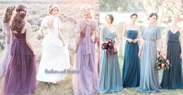 夢幻的婚禮~30款唯美姊妹裙色調配搭,姊妹團打扮漂亮能為整場婚禮瞬間加分!