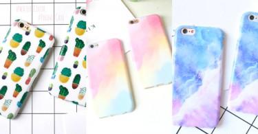 手機也要迎接好春天~12款粉嫩色系水彩風手機殼,少女心也要在手機上綻放!