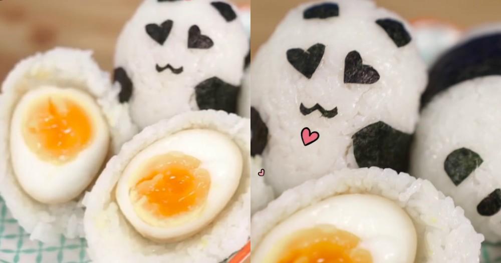 溏心蛋熊貓飯糰