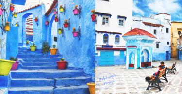 走進粉藍的國度!摩洛哥超夢幻「藍色小鎮」Chefchaouen,像畫一樣讓你忘卻煩惱!