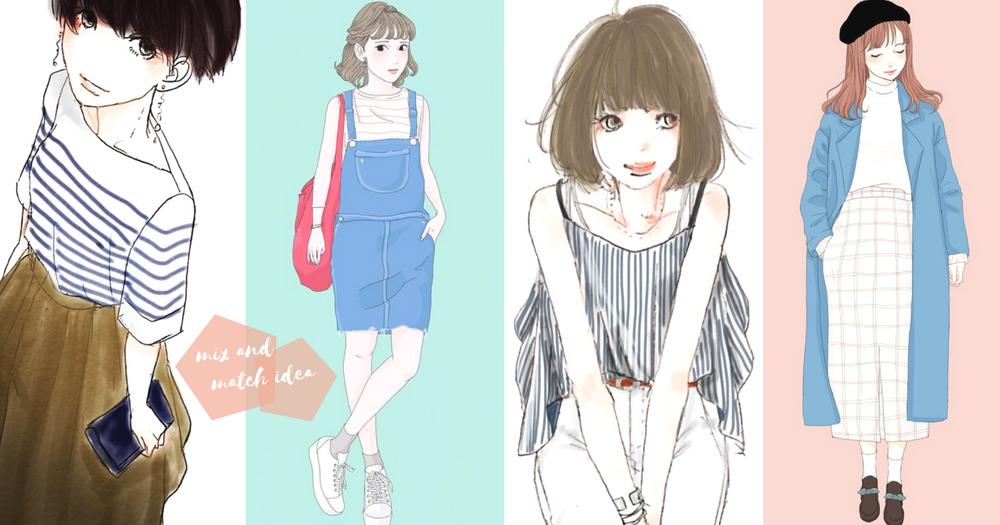 轉季又要苦惱出門穿甚麼?3個一定要Follow的「IG手繪穿搭」帳號~天天都可配搭出時尚的日韓風格!