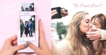 超方便「手機拍立殼」!將自拍立即印出來,還能錄下小影片製造驚喜一流〜