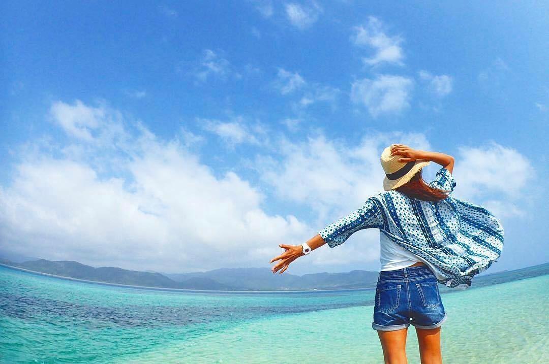 日本冲绳治愈系小岛「小滨岛」,去唔到马尔代夫去著呢个先!
