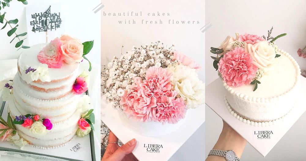 我要收食得既花!韓國超唯美「鮮花蛋糕」~一次過滿足哂女生視覺同味覺享受!