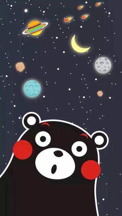 23款熊本熊部长卖萌手机桌布,呆萌既样子实在太可爱了!