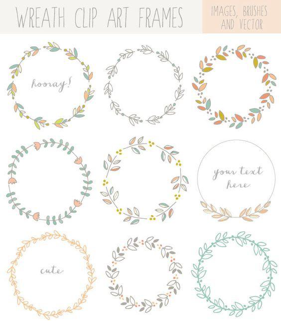 100 款简易手帐素材,花环,边框,分隔线,简单手绘通通有齐