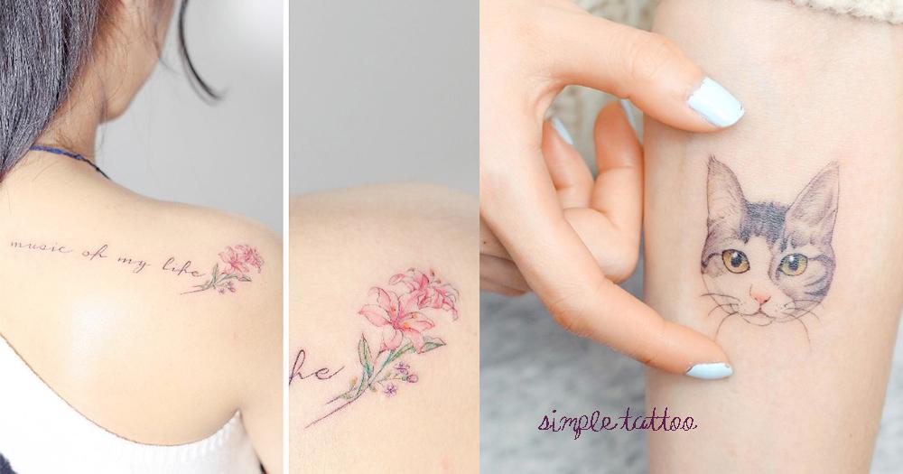 分分秒秒都跟最愛在一起~屬於雪白女生的15款刺青…簡單就是美!