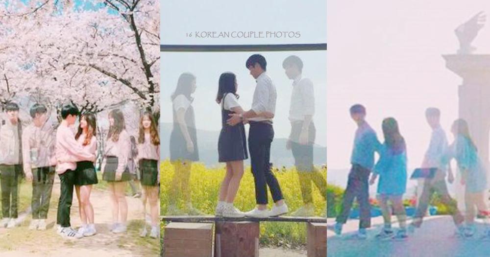 就是愛一步一步走向你~16張超夯的重複影像放閃情侶照,韓國超另類的曬恩愛方式啊!