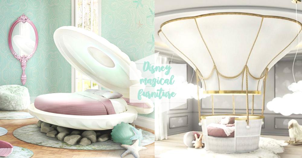 童話夢給實現了!有了這些夢幻家品,就能把家裡打造成超夢幻的「迪士尼主題房」!