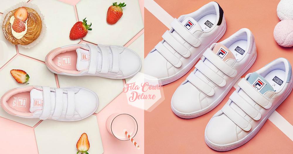 韓妞都在瘋這款!韓國限定FILA粉嫩色板鞋,春日新色「草莓牛奶」夢幻又清新啊!