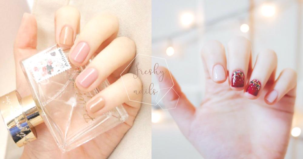 指甲也要換季啦!20款「清新感」跳色美甲,裸粉色、薰衣草藍、氣質淡粉都讓人超心動啊!