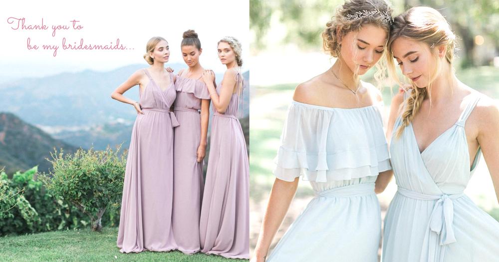 結婚就是要有一隊氣質姊妹團!超唯美粉嫩的波希米亞風姊妹裙~絕對想讓閨蜜穿上陪伴我出嫁啊!