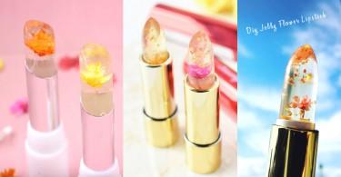 超簡單!4步DIY夢幻「果凍花瓣唇膏」,你們去網購的時候姐已經弄好幾枝啦〜