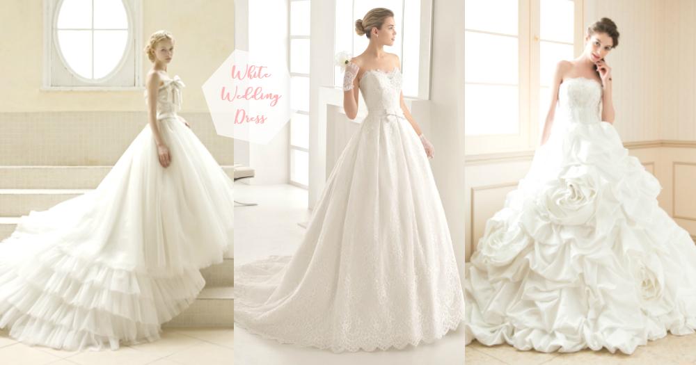 男友我將來一定要穿白色!25款仙氣系「純白婚紗」,是一種無可取代的純淨浪漫~