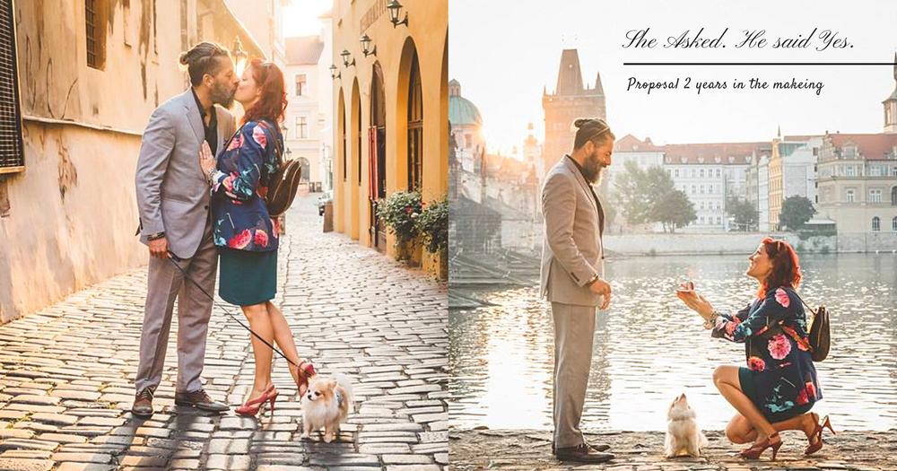 HE said yes!誰說求婚是男生的專利?她花了兩年時間籌備~向心愛的他求婚!