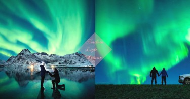 世界最美島嶼下求婚!攝影師在絕美之景極光下自拍求婚,可能係世上最靚既求婚!