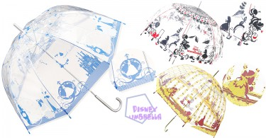 很想立馬下雨!迪士尼超夢幻透明拱形雨傘,這不就是公主的專用傘子嗎?!