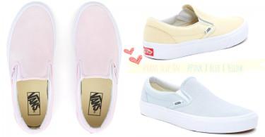小清新女孩的專屬懶人鞋~「Vans SK8-Hi Slip On」全新粉嫩顏色,女孩少女心大爆發!