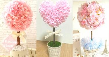 日本女生房間的秘密!日本女生必備可愛「紙花盆栽」,粉嫩顏色絕對追撃少女心!