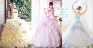 童話中最美的公主!有齊迪士尼公主經典色調的夢幻婚紗,這根本就是公主本人吧!