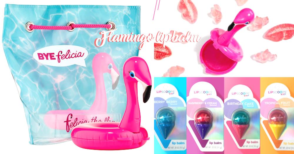搞怪貪靚女仔必備!超可愛粉紅鶴水泡+雪糕造型潤唇膏,夏天一出場就成為焦點!