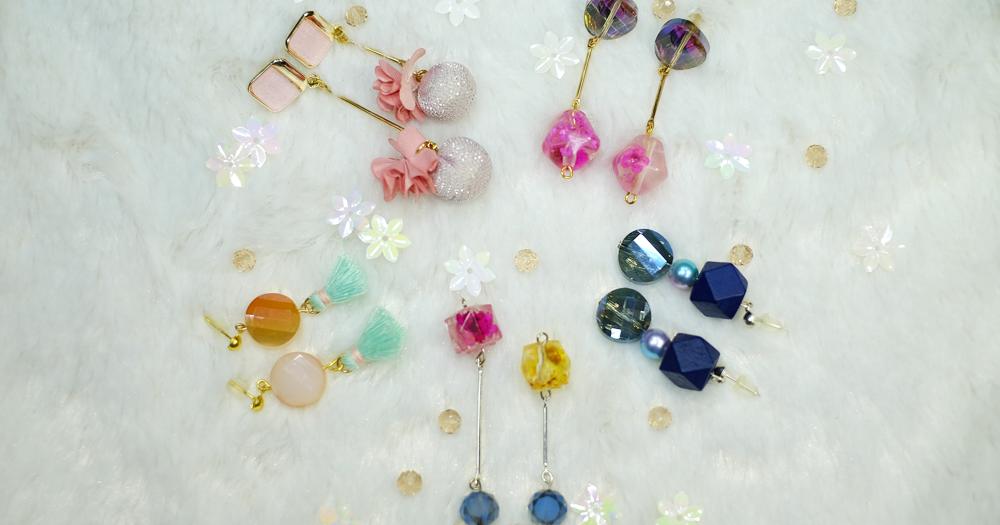 【DIY的乾花珠吊飾耳環】